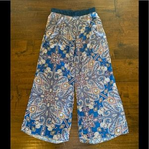 Anthropologie Elevenses Wide Legged Pants